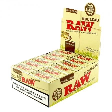 Papier à rouler Raw Rolls Organic X 24