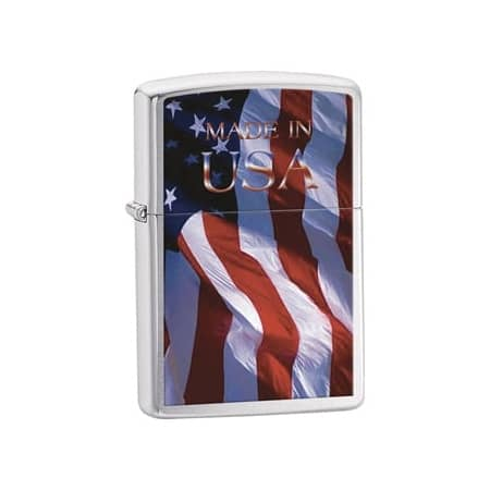 Zippo Made in USA Flag