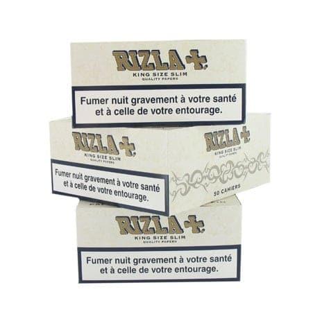 Papier à rouler Rizla + Slim Pearl Blanc x 50 PACK de 3