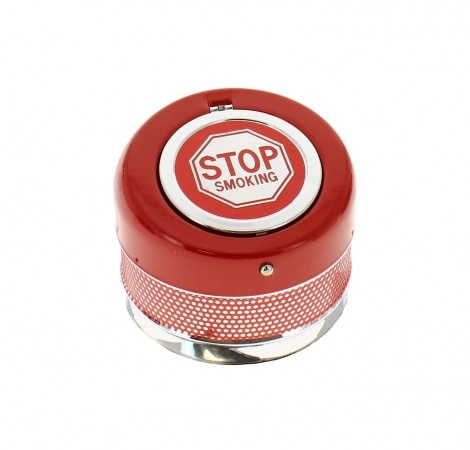 Cendrier Automatique Stop Smoking rouge