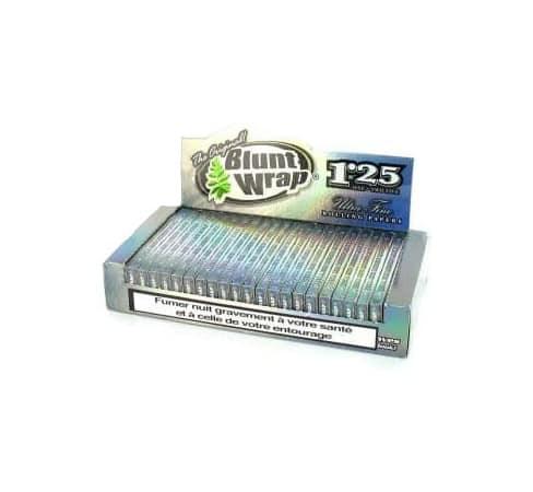 Papier à rouler Blunt Wrap Silver 1.25 x25
