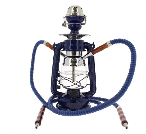Chicha Coney Lampe à pétrole LED Bleue