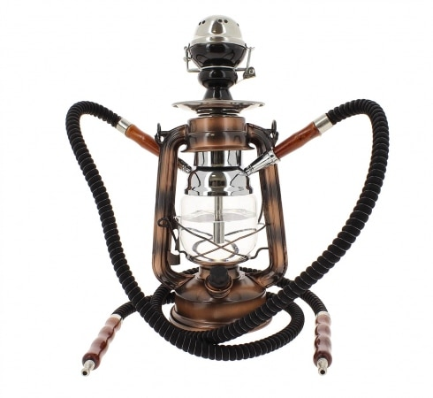 Chicha Coney Lampe � p�trole LED Bronze