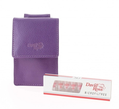 Etui cigarette et filtre David Ross Violet
