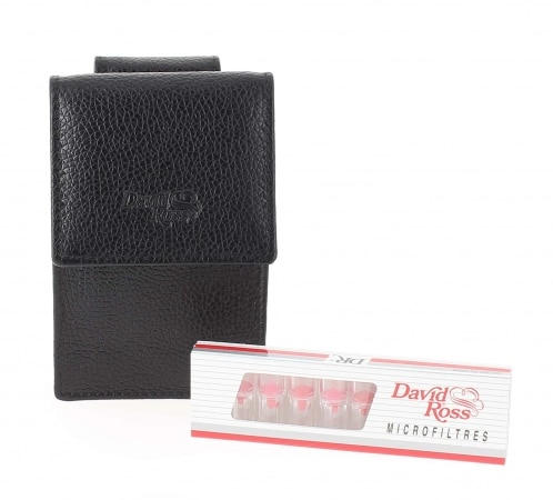 Etui cigarette et filtre David Ross Noir