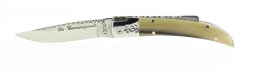 Couteau Laguiole Aveyron Camarguais Cisel� Pointe de Corne n.10