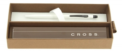 Stylo Roller Cross Click Retractable Blanc