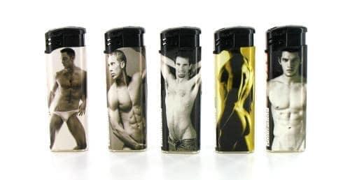 5 briquets électroniques Beautiful Men
