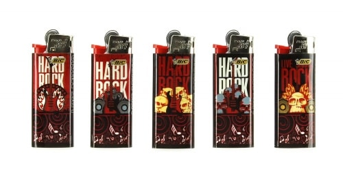 50 briquets Bic mini � pierre Hard Rock