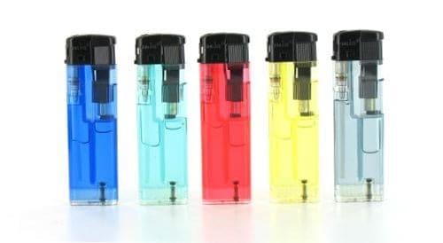 5 briquets électroniques Translucides