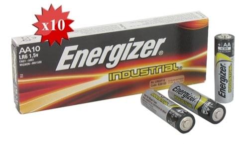 Pile LR6 AA energizer industriel x 10
