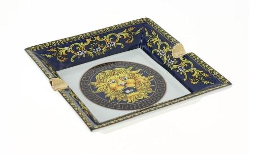 Cendrier en Porcelaine Lion Bleu