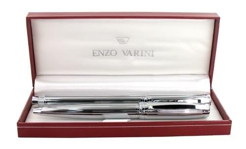 Parure stylo Enzo Varini Castello Chrom� Godrons