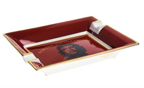 Cendrier Cigare Elie Bleu Porcelaine Ché Rouge
