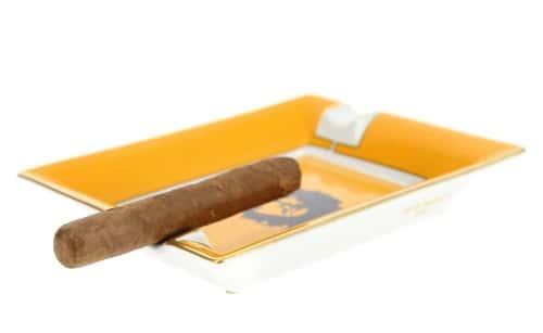 Cendrier Cigare Elie Bleu Porcelaine Ché Noir
