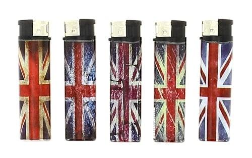 5 Briquets Electroniques Union Jack