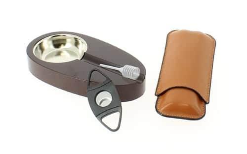 Cave à cigares Acajou et accessoires