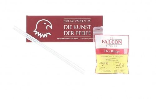Pipe Falcon Dover Courbée Noire