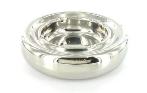 Cendrier Design Inox poli brillant Deluxe