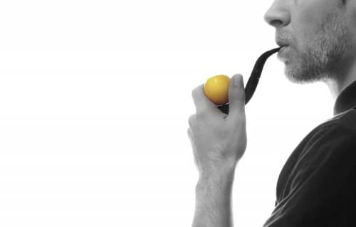 Pipe Butz Choquin S pipe boule jaune