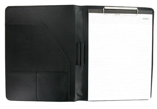 Conférencier A4 Noir avec pince