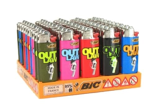 50 briquets Bic mini � pierre Outlaw