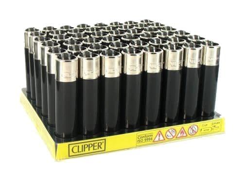 48 briquets � pierre Clipper All Black