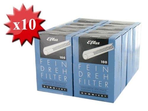 Filtres Efka 8mm autocollants x 10 boites