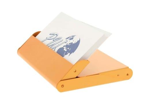 Porte cartes de visite Orange