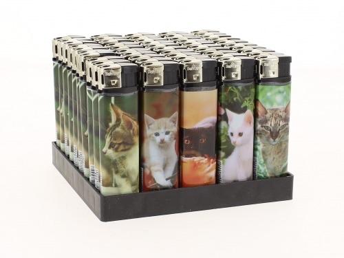 50 Briquets Electroniques Petit Chat