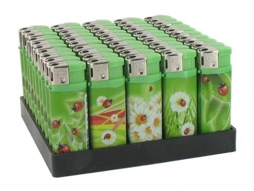 50 Briquets Electroniques Mini Coccinelle