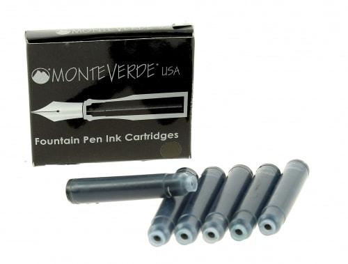 Recharge stylo plume Monteverde Noir