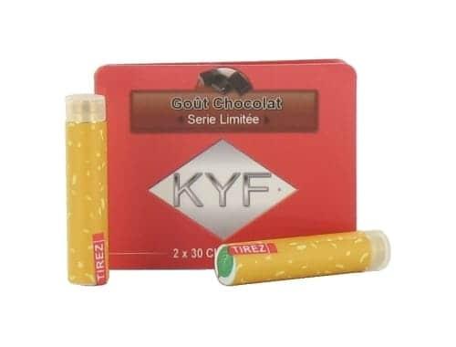 2 Recharges Goût Chocolat nicotine léger Cigarette KYF