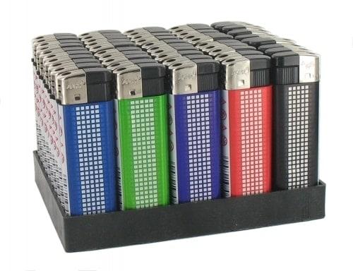 50 Briquets Electroniques Point Laser