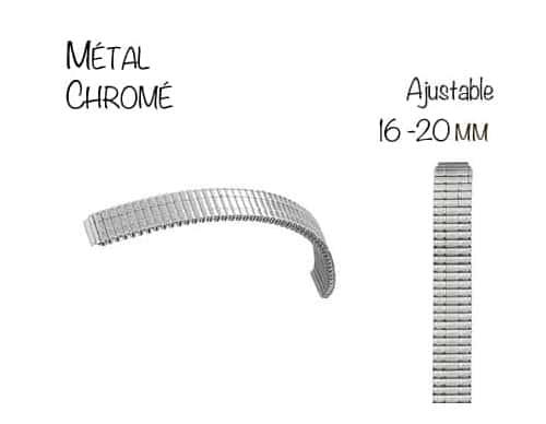 Bracelet Montre M�tal Extensible Ajustable 16 � 20mm