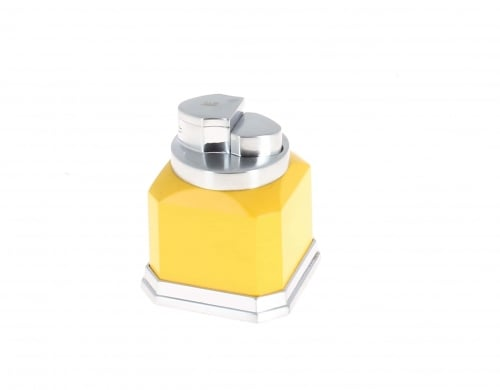Briquet de table Jaune 4 flammes chalumeau Winjet