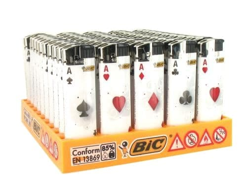 50 briquets Bic Maxi Electronique Playing Cards