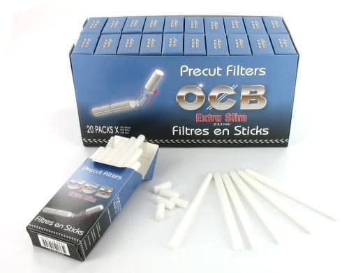 Filtres OCB Extra Slim en sticks x20