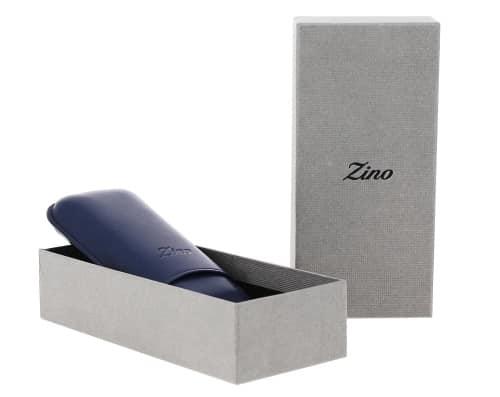 Etui à cigare Zino R-2 cuir bleu foncé