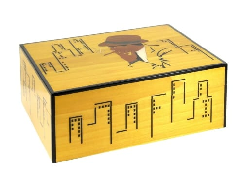 Cave a cigare Gratte Ciel Jaune 100 cigares