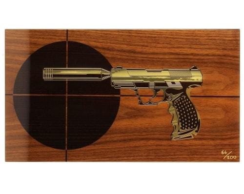 Cave a cigare Elie Bleu Pistolet cible 110 cigares Edition limit�e