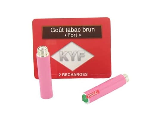 2 Recharges roses Go�t Tabac Brun nicotine fort Cigarette KYF