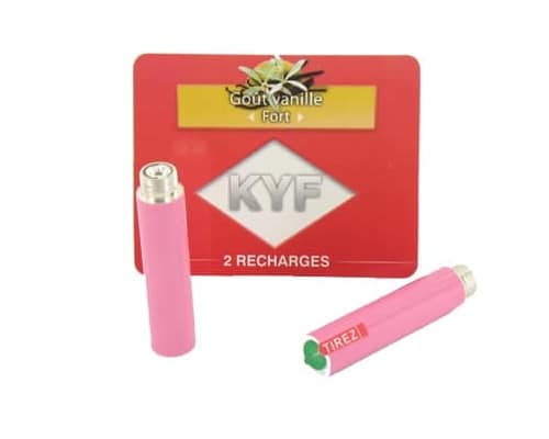 2 Recharges roses Goût Vanille nicotine fort Cigarette KYF