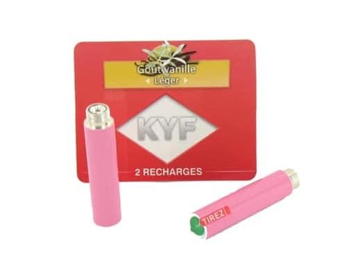 2 Recharges roses Goût Vanille nicotine léger Cigarette KYF
