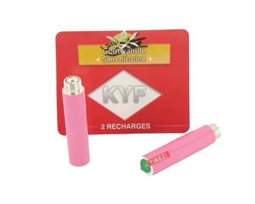 2 Recharges roses Go�t Vanille sans nicotine Cigarette KYF