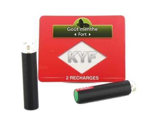 2 Recharges noires Go�t Menthe nicotine fort Cigarette KYF