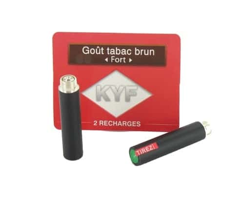 2 Recharges noires Go�t Tabac Brun nicotine fort Cigarette KYF