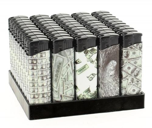 50 Briquets Electroniques Dollars