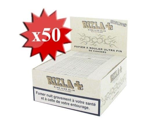 Papier à rouler Rizla + Slim Pearl Blanc x 50