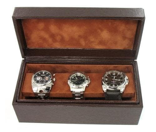 Boite 3 montres Gain�e Epi Brun